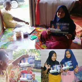 Tim Rumah Firdaus-Rusli Tetap Konsisten, Jajaki Desa di Kampar Rohul Sampai Rohil