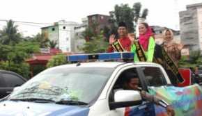 Sukses Ditingkat Provinsi, Bujang Dara Rohil Diarak Keliling Kota
