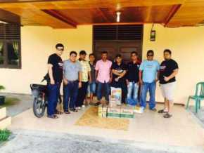 Komunitas Pecinta Toyota Great Corolla Pekanbaru, Bantu Korban Banjir di Kampar