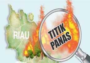 Riau Deteksi 88 Hotspot,  Terbanyak di Inhil 20 Titik