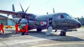 Pesawat Canggih CN-295 milik TNI AU dikerahkan,BNPB Lakukan TMC Cegah Kebakaran Hutan di Riau