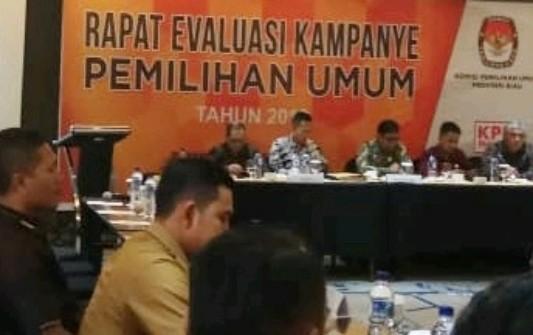 KPU Riau Gelar Rapat Evaluasi Kampanye Pemilu 2019