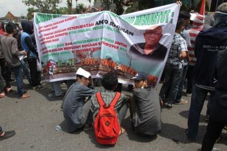 Taman Integritas di Pekanbaru Terindikasi Korupsi Nama Anto Rachman Disebut Sebut Pendemo
