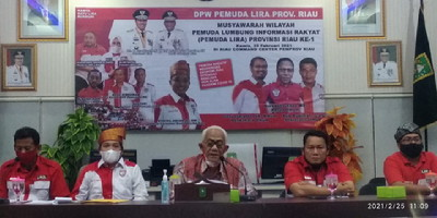 Gubri Buka Muswil Pemuda LIRA Riau di RCC Pemprov
