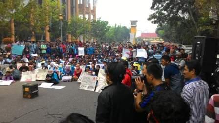 Foto Gerakan Revolusi Langit Biru , Aksi  Anti Asap di Riau