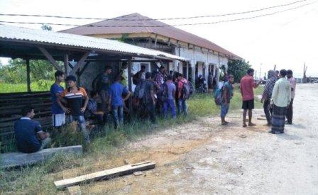 Puluhan WNA Bangladesh Dibuang Tekong di Kebun Sawit Pulau Rupat Riau