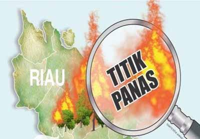 60 Hotspot Terpantau di Riau.