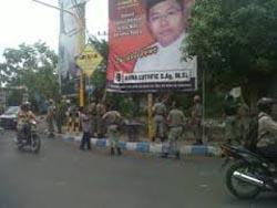 Atribut Caleg di Jalan Lintas Kuansing Ditertibkan