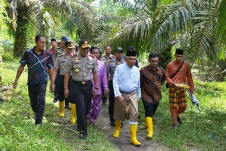 Kunjungan Gubernur dan Kapolda Riau dilahan SPN, Syahrial Abdi : Lahan SPN Ini Siap Untuk Dibangun