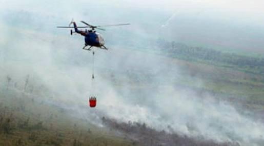 Proyek Pemadaman Karhutla Riau Habiskan 42,8 Juta Liter Air