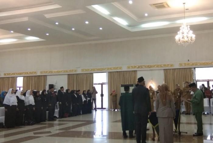 Pesan Plt Gubernur Riau  Wan Thamrin Hasyim untuk 79 Kepala Sekolah yang Baru Dilantik