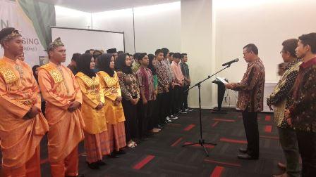 Bupati Kuansing Mursini Lantik Pengurus IPRY Komisariat Kuansing