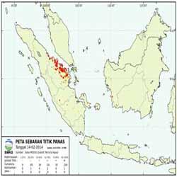 Wow, Hotspot di Riau Capai Rekor 325 Titik