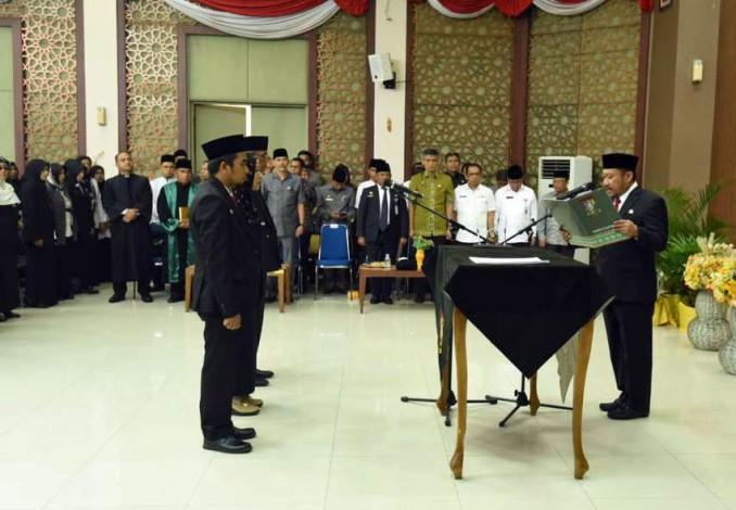 Plt Bupati Kampar Catur Sugeng Susanto Lantik 78 Pejabat