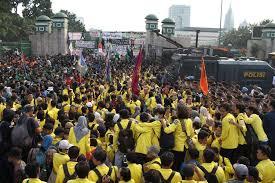 Demo Mahasiswa Tolak Revisi UU KPK Berlanjut