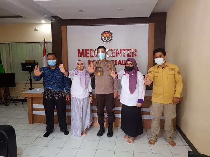 KOMNAS PA Kunjungi Studio Bid Humas Polda Riau