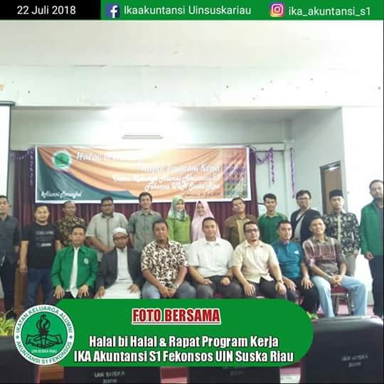 Halal bihalal dan Raporja IKA Ak S.1 Fekonsos UIN Suska Riau Sukses Digelar