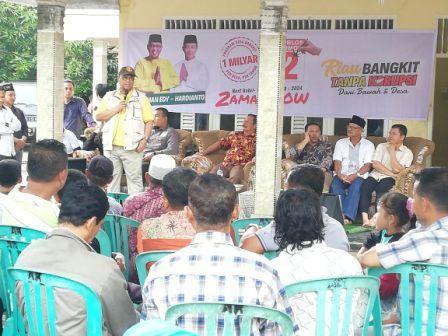 Lukman Edy - Hardianto Lakukan Kampanye Dialogis di Kuansing
