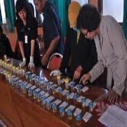 60 Anggota Personil Polsek Limapuluh Tes Urine