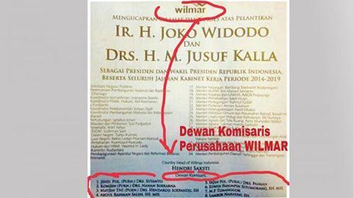 Terungkap mantan pembesar di lembaga penegak hukum Indonesia jadi kacung di perusahaan  Wilmar