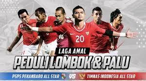 Laga Amal All Star PSPS vs All Star Kumpulkan Dana Rp500 Juta untuk Lombok dan Palu