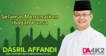 Dasril Affandi,SH,MH Mengucapkan Selamat Menunaikan Ibadah Puasa Ramadhan 1437 H 2016