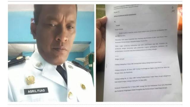 Kades Binamang Bantah Terlibat Korupsi, Fuad : Saya Belum Pernah Diperiksa Jaksa