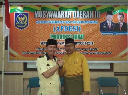 Musda ke-III, Mahroni Terpilih Secara Aklamasi Sebagai Ketua APDESI Riau