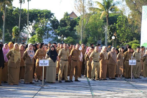 Pemprov Riau Kembali Gelar Apel Pagi