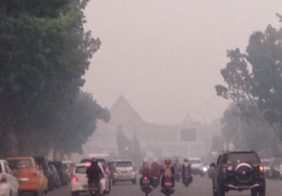 Kabut Asap Masih Selimuti Wilayah Riau, Terparah di Pelalawan