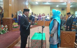 Politisi PDIP, Febriza Luwu Dilantik sebagai PAW Anggota DPRD Bengkalis