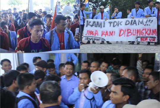Status Mahasiswa Dihapuskan Dari Anggota Senat, Mahasiswa Demo Rektor UR