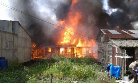 Puluhan Rumah di Tembilahan Hulu, Inhil Ludes Terbakar