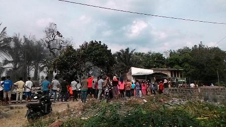 Kebakaran di Pasar Banjar XII, 7 Bangunan Ludes di Lalap Api