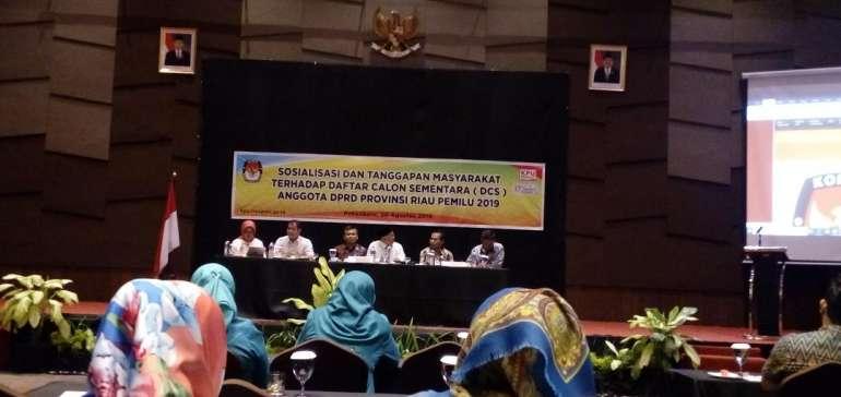 KPU Riau Terima Enam Laporan Masyarakat Terkait DCS