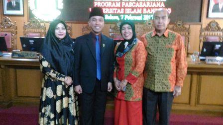 Wakil Dekan I FH UIR , Admiral Raih Gelar Doktor di Universitas Islam Bandung