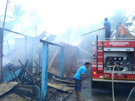 Empat Rumah di Tambang, Kampar Ludes Terbakar