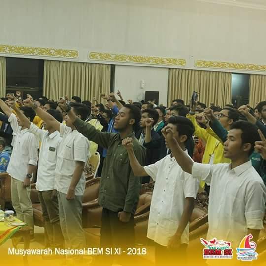 Delegasi MUNAS BEM SI XI Ramah Tamah Gubri di Balai Serindit Riau