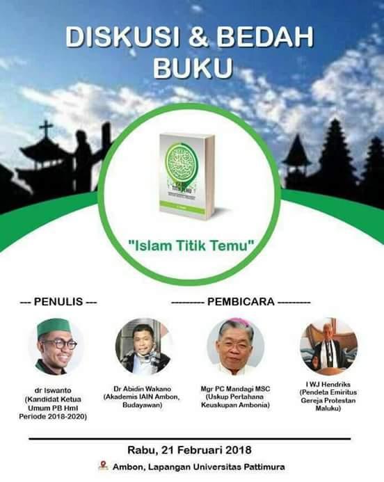 Kandidat Calon Ketua Umum PB HMI, dr. Iswanto, Akan Menggelar Bedah Buku 'Islam Titik Temu'