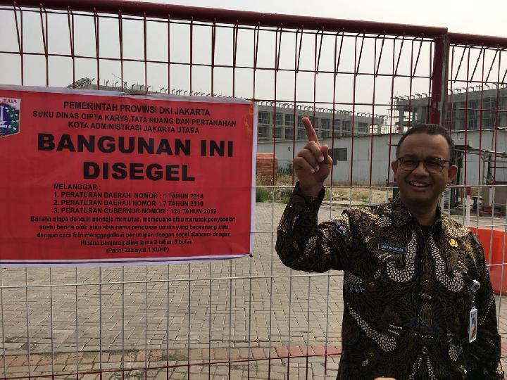 Anies Baswedan Ikuti Penyegelan Gedung di Pulau Reklamasi C dan D