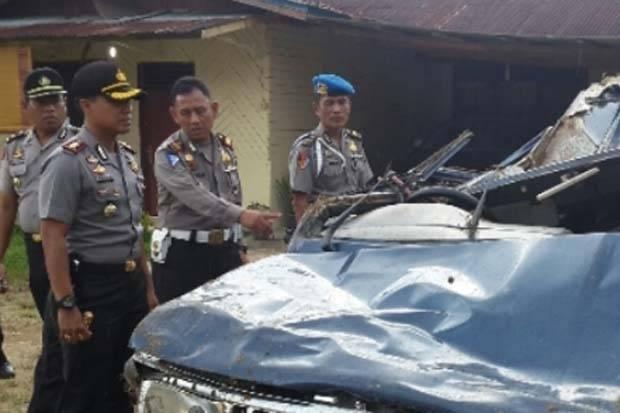 Mobil Masuk Sungai, Kapolsek Cerenti Riau Meninggal