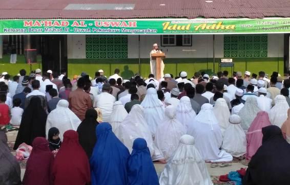 Pagi ini Sebagian Umat Islam Pekanbaru Sholat Idul Adha