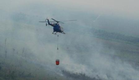Ini Penjelasan Danlanud Pekanbaru Terkait Jatuhnya Bucket Helikopter Sikorsky N5193Y